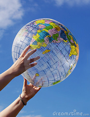 Free Globe In Blue Sky Royalty Free Stock Photography - 2773257