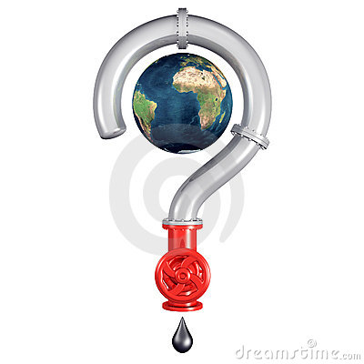 Globe inside a pipe question mark