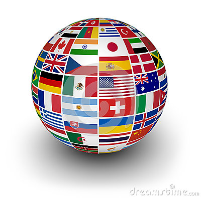 Globe International World Flags