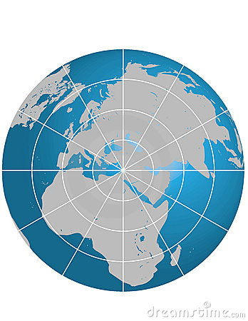 Globe israel centerd