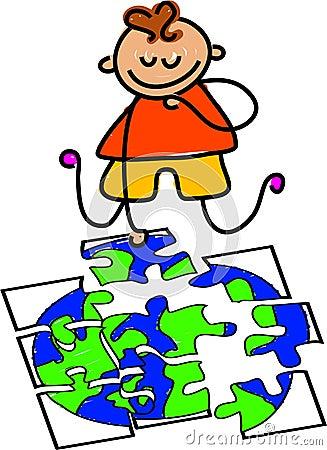 Globe jigsaw