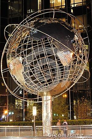 Globe à la tour d atout Photographie éditorial