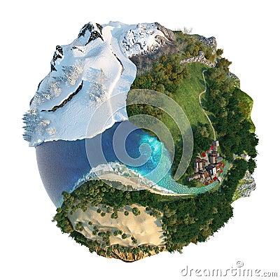Globe landscapes diversity