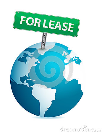 Globe for lease illustration design