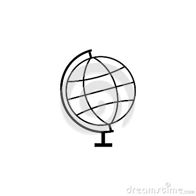 Globe line icon, school and education element Vector Illustration