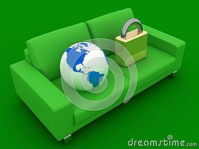 Globe and a lock