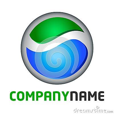 Globe logo and icon element