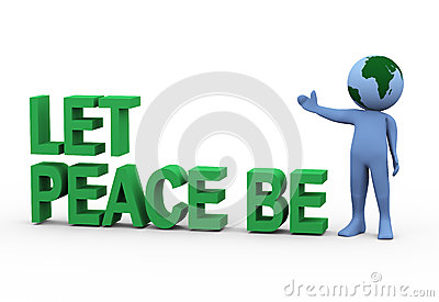Globe man let peace be