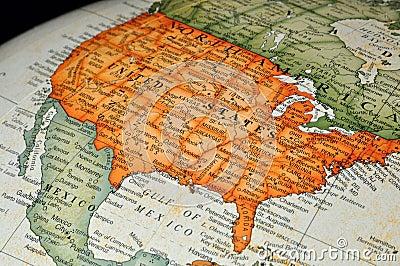 Globe or Map of United States