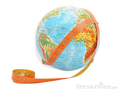 Globe with measure tape