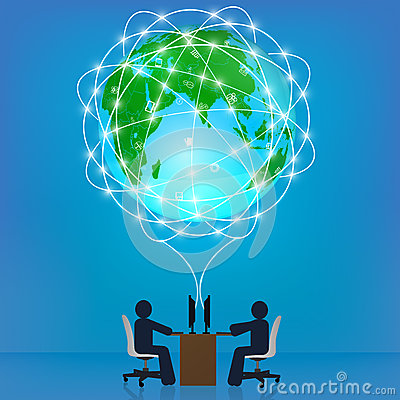 Globe network connection. Template, infographics,