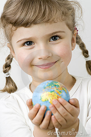 Free Globe On Child Hands Stock Photos - 7955863