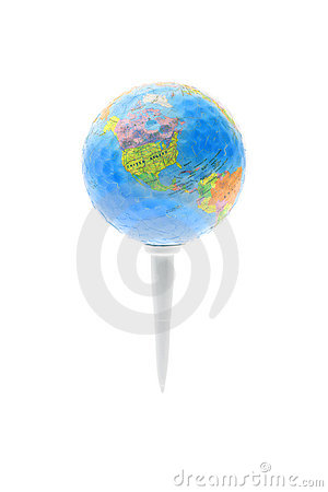 Free Globe On Golf Tee Royalty Free Stock Photos - 5377928