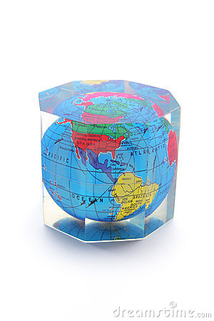 Globe Paperweight Royalty Free Stock Images - Image: 9765369