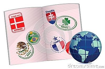 Globe and passport