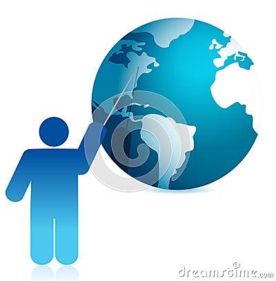 Globe presentation illustration icon design