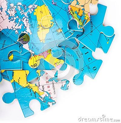 Globe puzzles