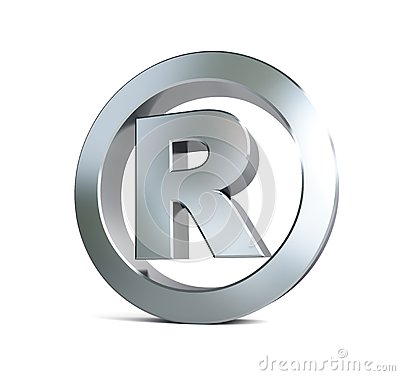 Globe registered trademark sign 3d Illustrations