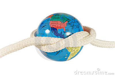 Globe with a rope