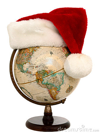 Globe with Santa Hat (2 of 3)