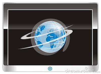 Tablet PC device in vector