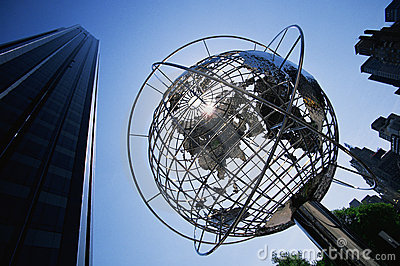 Globe Sculpture at the Trump International Hotel Editorial Photo