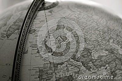 Globe, sepia