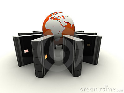 Globe and servers
