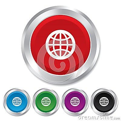 Free Globe Sign Icon. World Symbol. Royalty Free Stock Photo - 36469505