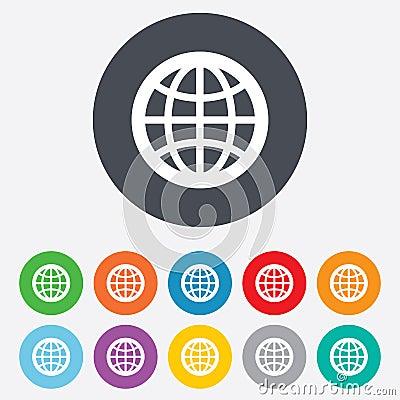 Free Globe Sign Icon. World Symbol. Stock Photo - 36728910