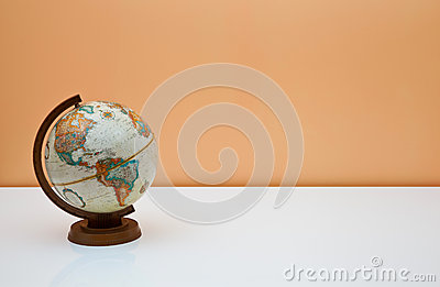 The globe on the students desk