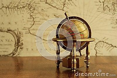 Globe on a table