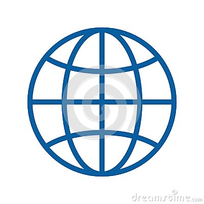 Free Globe Thin Line Icon. Vector Illustration. Internet, Traveling, Geography, Communications, Technology Subjects Royalty Free Stock Photos - 121824828