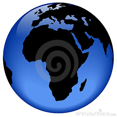 Free Globe View - Africa Stock Photography - 310192