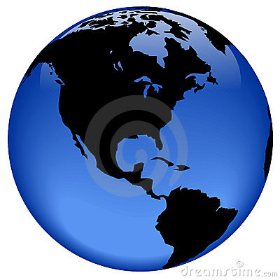 Free Globe View - America Royalty Free Stock Photos - 310188