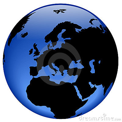 Free Globe View - Europe Royalty Free Stock Images - 310189