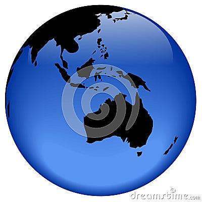 Globe view - Oceania