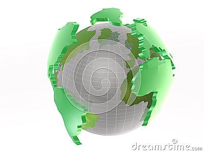 Globe on white
