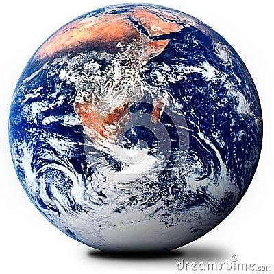 The globe on white