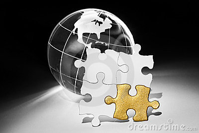 Globe and White Puzzle