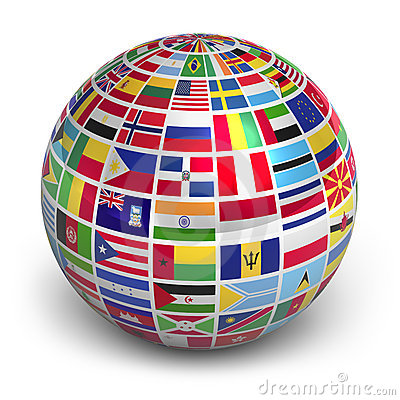 Free Globe With World Flags Stock Image - 22465001