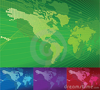 Globe Word Map of Earth Backgr