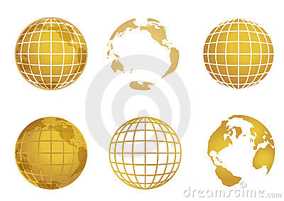 Globe world map