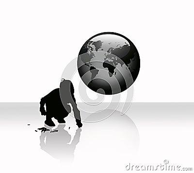 Globe, worldmap and a child