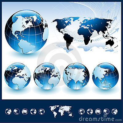 Free Globes With World Map Stock Photos - 15423933