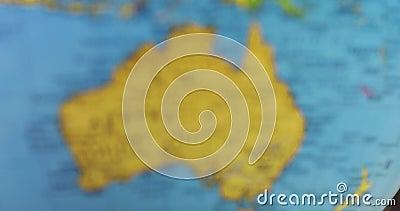 Globo com o mapa do continente de Austrália filme
