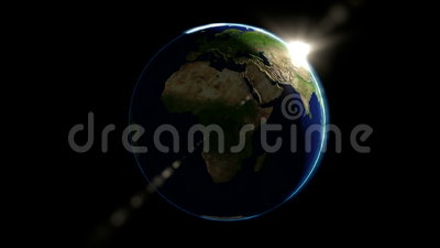 Globo de la tierra en espacio almacen de metraje de vídeo