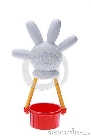 Globo del aire caliente de Mickey Mouse Imagen de archivo editorial