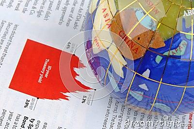 Globo e información de la economía