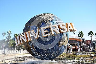Globo universal en Orlando universal Imagen de archivo editorial